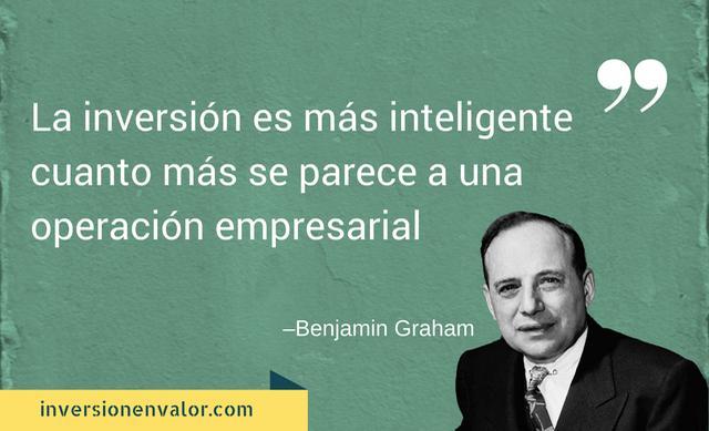 La inversión es más inteligente cuanto más se parece a una operación empresarial